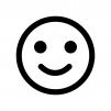 スマイル・笑顔の白黒シルエットイラスト