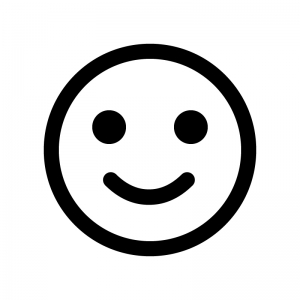 スマイル笑顔のシルエット 無料のaipng白黒シルエットイラスト