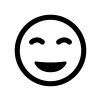 スマイル・笑顔の白黒シルエットイラスト03