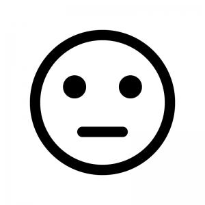 顔の白黒シルエットイラスト