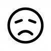 残念・悲しい顔の白黒シルエットイラスト