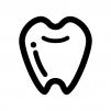 歯の白黒シルエットイラスト04