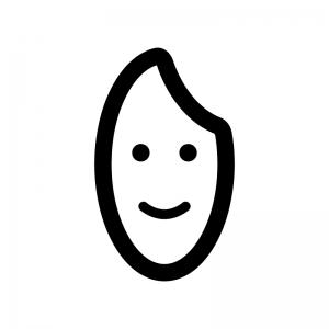 米粒の白黒シルエットイラスト03