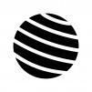 バランスボールの白黒シルエットイラスト02