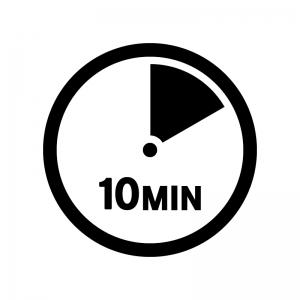 10分間の白黒シルエットイラスト02