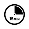 15分間の白黒シルエットイラスト02