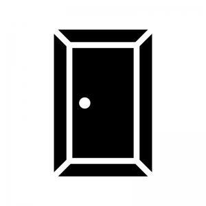 ドア・扉の白黒シルエットイラスト03