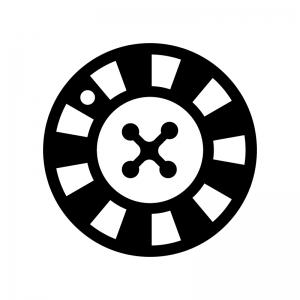 ルーレットの白黒シルエットイラスト03