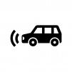 自動ブレーキの白黒シルエットイラスト02