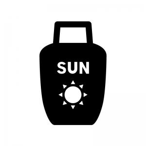 サンオイル日焼け止めクリームのシルエット04 無料のaipng白黒