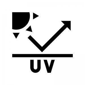 UVカットの白黒シルエットイラスト