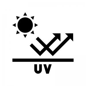 UVカットの白黒シルエットイラスト02