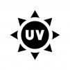 UV・紫外線の白黒シルエットイラスト02