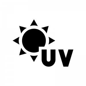 UV・紫外線の白黒シルエットイラスト03