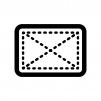 雑巾の白黒シルエットイラスト02