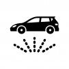 洗車・下部洗浄の白黒シルエットイラスト02