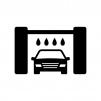 洗車の白黒シルエットイラスト04