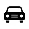 正面から見た自動車の白黒シルエットイラスト03