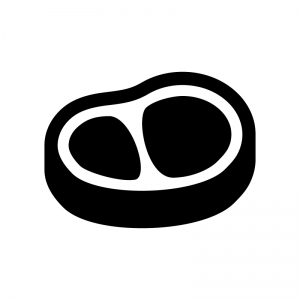ロース肉の白黒シルエットイラスト