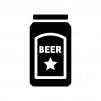 缶ビールの白黒シルエットイラスト02