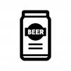 缶ビールの白黒シルエットイラスト04