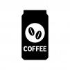 缶コーヒーの白黒シルエットイラスト