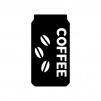 缶コーヒーの白黒シルエットイラスト02