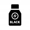 ブラックの缶コーヒーの白黒シルエットイラスト
