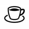 コーヒーの白黒シルエットイラスト02