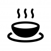 温かいスープの白黒シルエットイラスト02