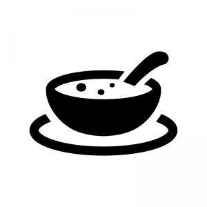 スープの白黒シルエットイラスト03