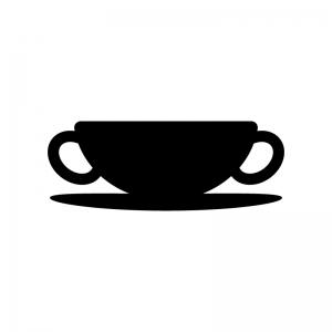 スープの白黒シルエットイラスト04