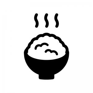 ご飯のシルエット04 無料のaipng白黒シルエットイラスト