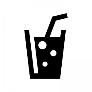 炭酸ジュースのシルエットイラスト02