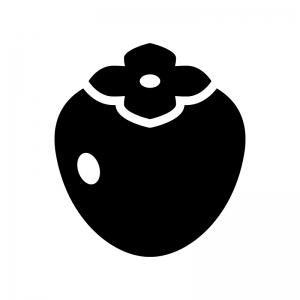渋柿・筆柿の白黒シルエットイラスト