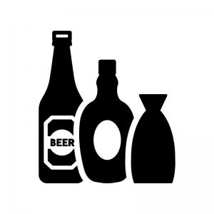 酒類のシルエット 無料のaipng白黒シルエットイラスト