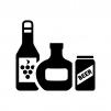 酒類の白黒シルエットイラスト02