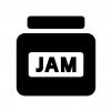ジャムの白黒シルエットイラスト