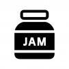 ジャムの白黒シルエットイラスト02