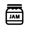 ジャムの白黒シルエットイラスト03