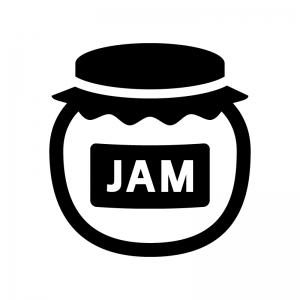 ジャムの白黒シルエットイラスト04