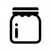瓶容器の白黒シルエットイラスト