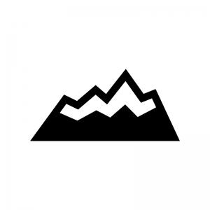 雪山のシルエット02 無料のaipng白黒シルエットイラスト