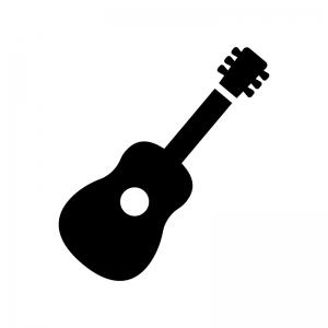 ギターの白黒シルエットイラスト