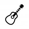 ギターの白黒シルエットイラスト02