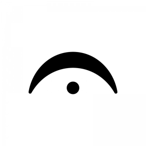 フェルマータ記号の白黒シルエットイラスト