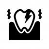 虫歯の痛みの白黒シルエットイラスト02