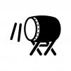 和太鼓の白黒シルエットイラスト02