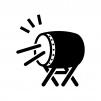 和太鼓の白黒シルエットイラスト03
