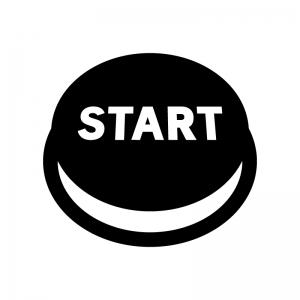 スタートボタンの白黒シルエットイラスト